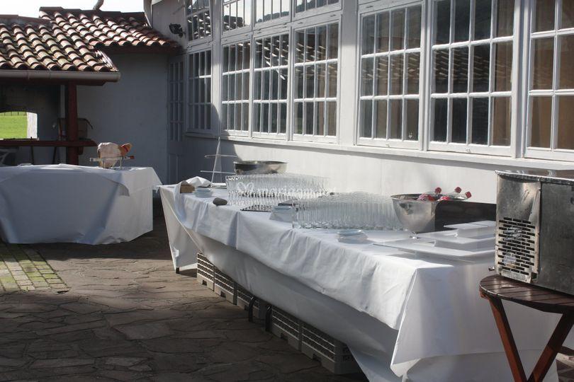 Terrasse pour cocktail