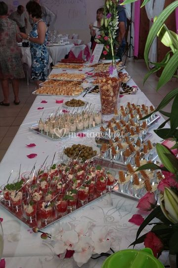 Apéro buffet mariage
