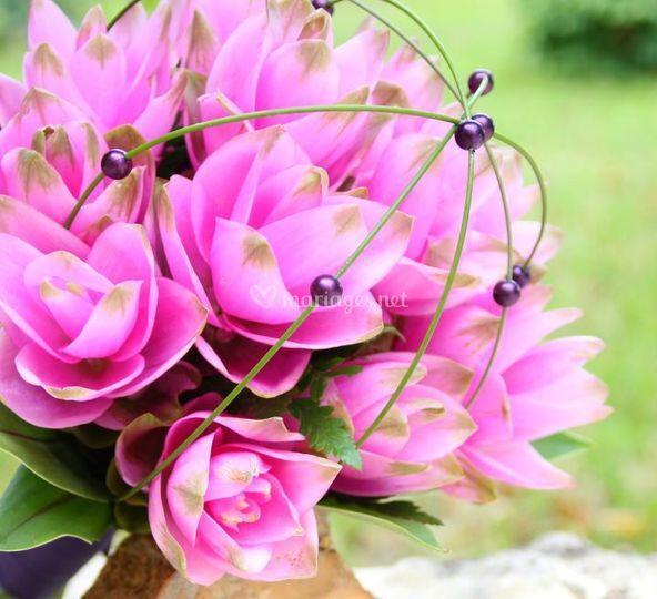 Bouquet de mariée curcuma