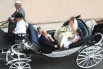 Mariage en cal�che sur Attelage Dubois et ses Frisons
