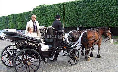maris en calche sur mariage en calche - Location Caleche Mariage