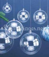 Boule plastique transparent