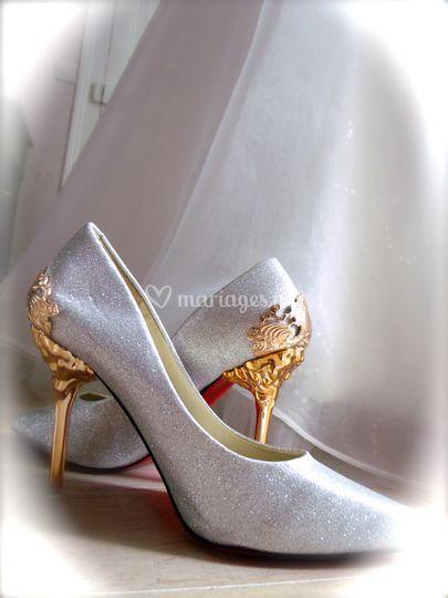 Chaussures poudre scintillante