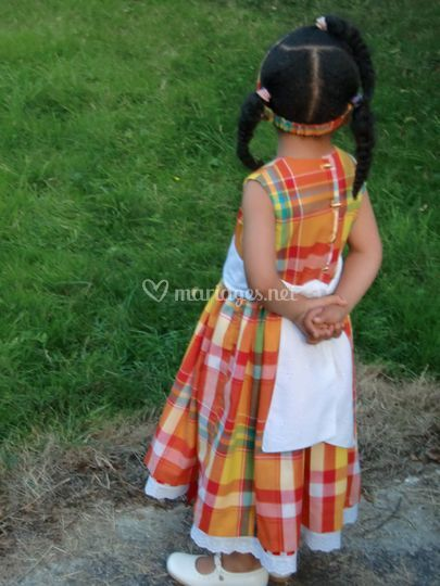 Cortège madras antillais fille