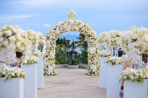 Arche en fleurs