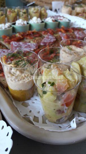 Pêche/thon et Avocat/crevette