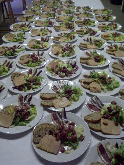 Salade gourmande de gésiers