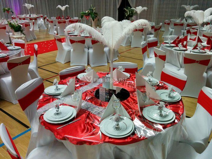 Les Diamantines blanc et rouge