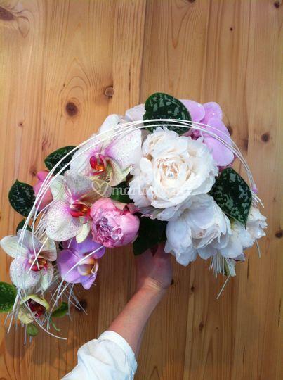 Bouquet cascade asymétrique