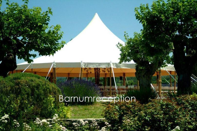 Chapiteau bambou rond