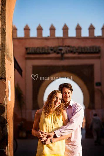 Sous une porte à Marrakech