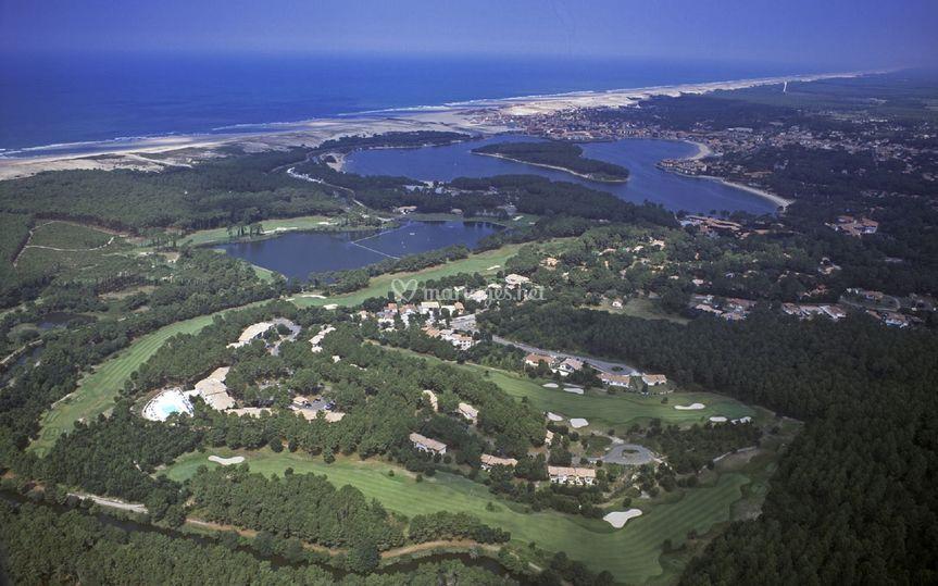 Plage de Soustons et Lac Marin