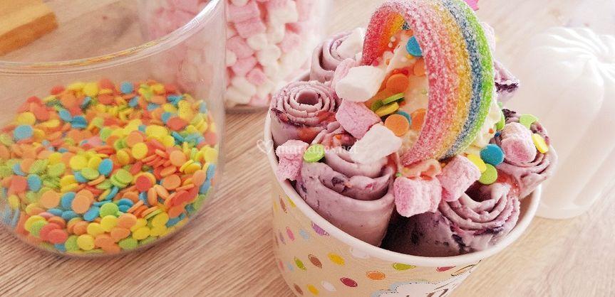 Ice cream rolls UNICORN