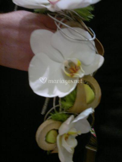 Détail bouquet de demoiselle d'honneur