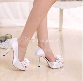 Chaussure noeud satin