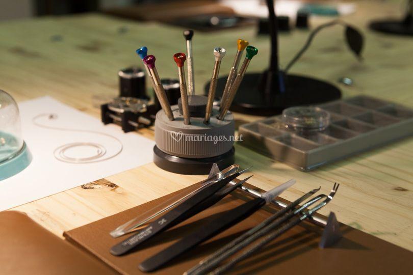 Les outils de l'horloger