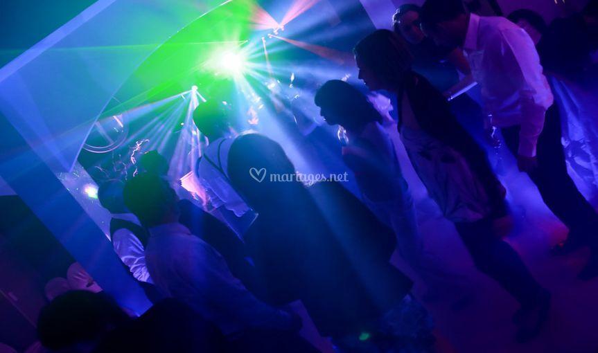 DJ - Lumières piste de danse