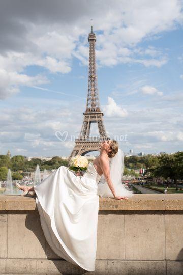 Photo couple Paris