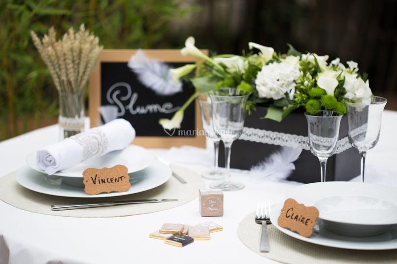 Table mariage Dentelle Chic