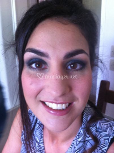 Maquillage blue smoky