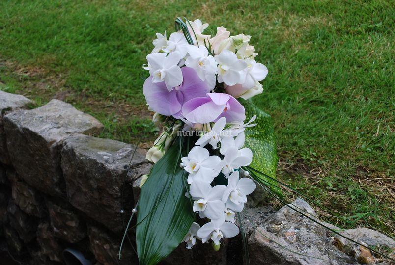 Bouquet de mariée orchidées