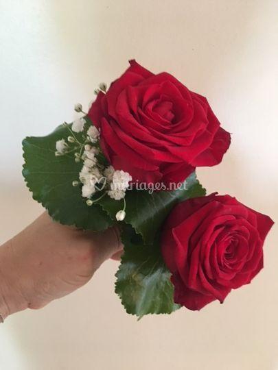 Boutonnière Rose rouge