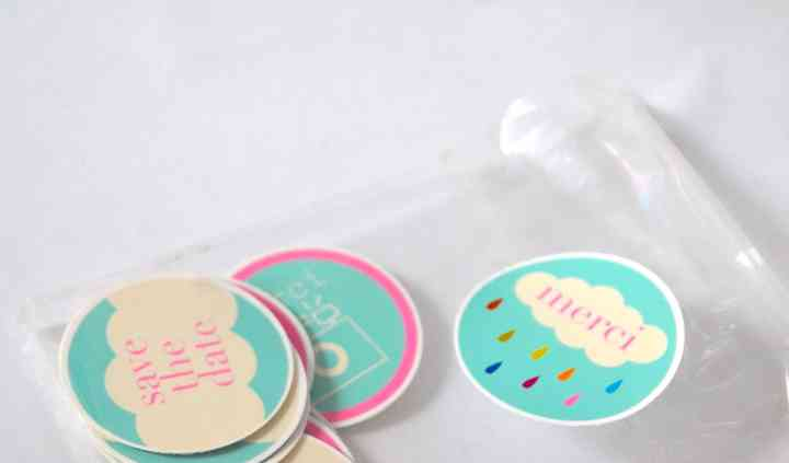 "Stickers mariage ""Save the date"""