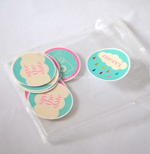 """Stickers mariage """"Save the date"""""""