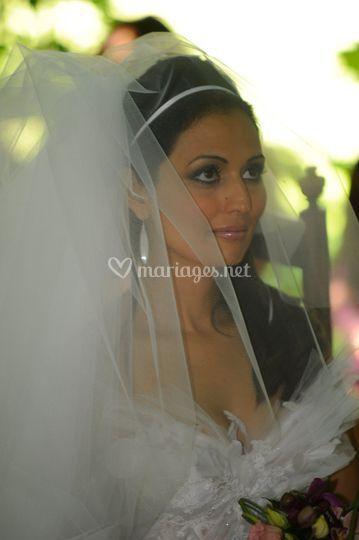 La mariée sous le voie