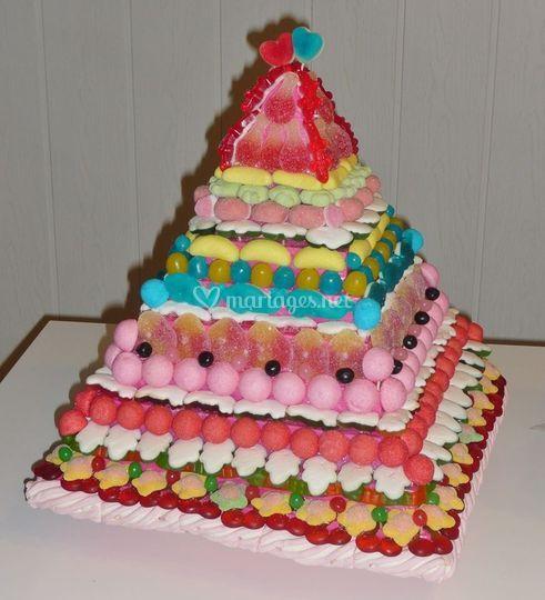 Pyramide multicolore