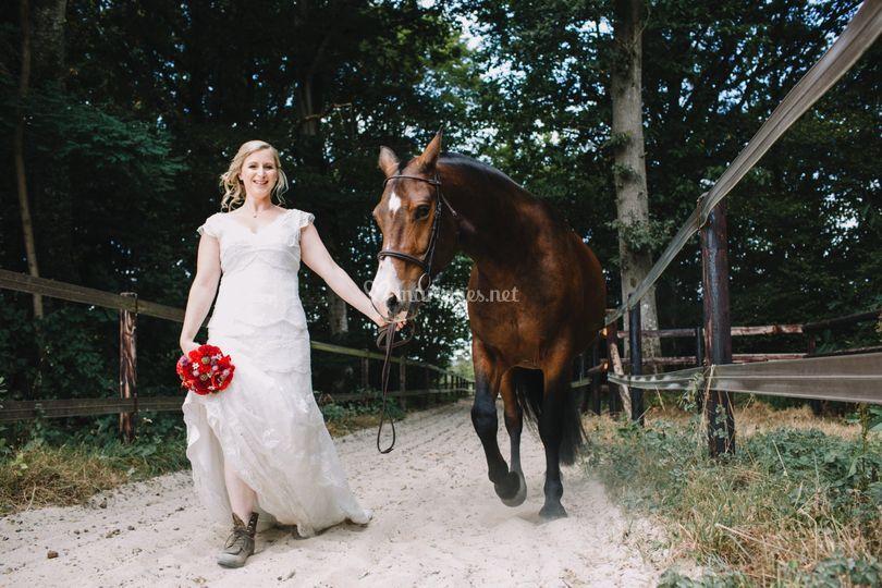 Robe de mariée pour monter à cheval