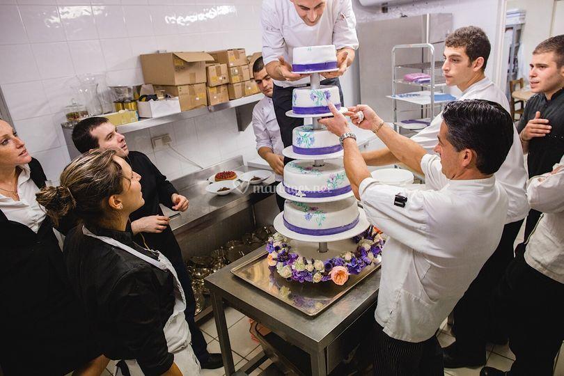 Gâteau de mariage 5 étages