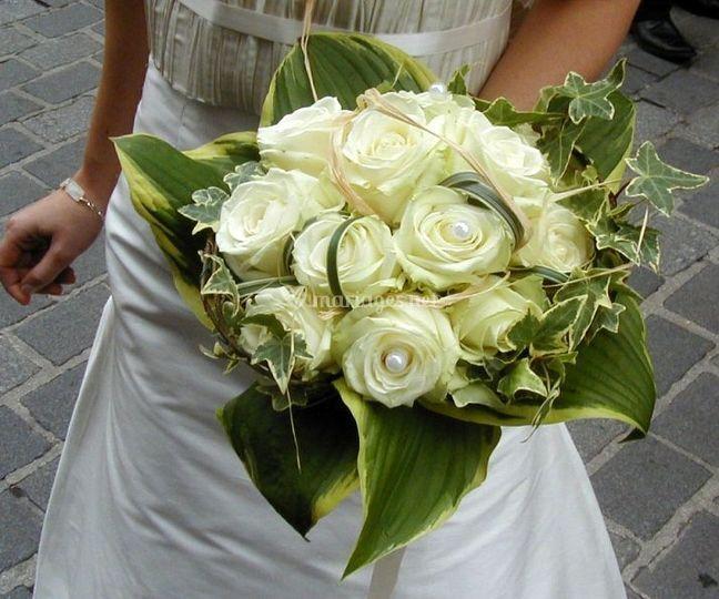 Bouquet de mariée rose blanche