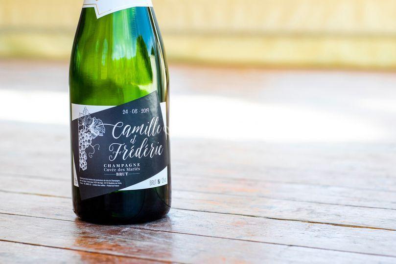 Étiquette de Champagne