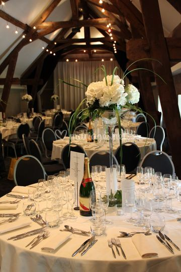 Vase martini sur table