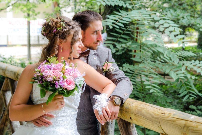Poses de mariés