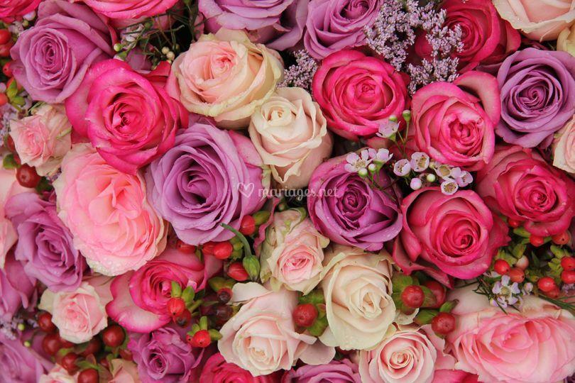 Bouquet rose fuchsia