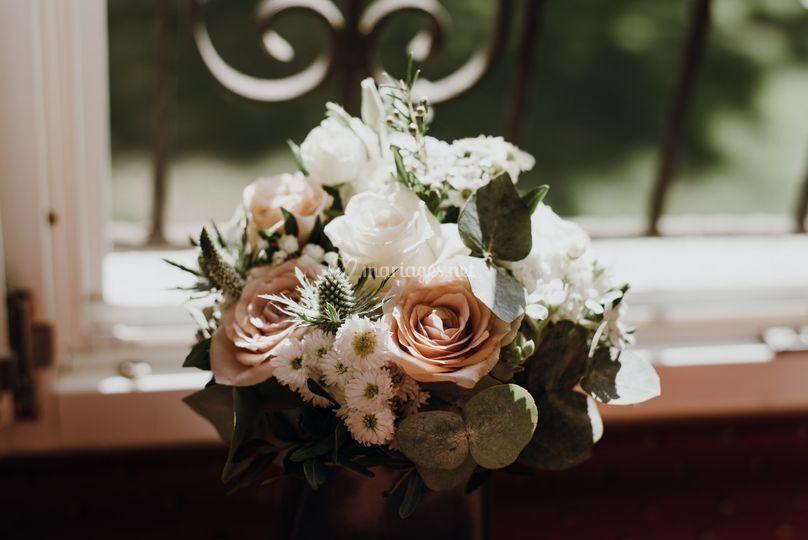 Bouquet de mariée vieux rose
