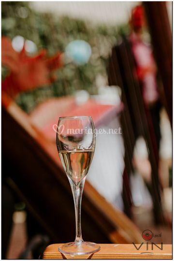 Champagne et harpe
