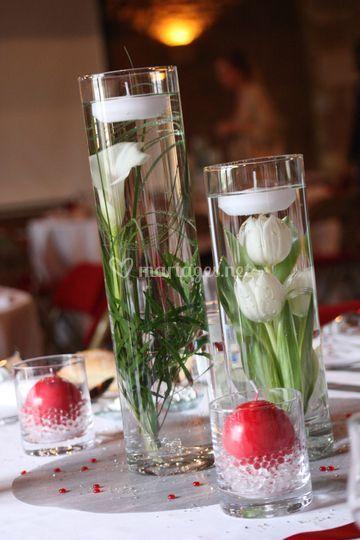 Lot de 3 vases cyl en location