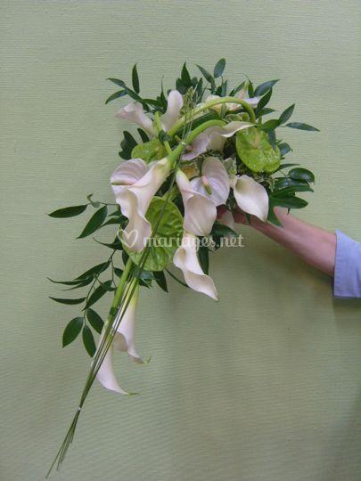 Fleurs d 39 anges for Bouquet de fleurs vert et blanc