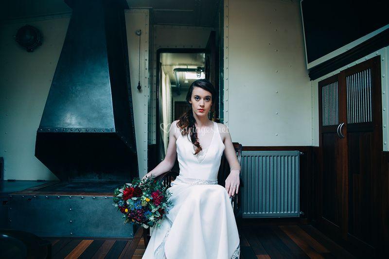 La mariée de la péniche