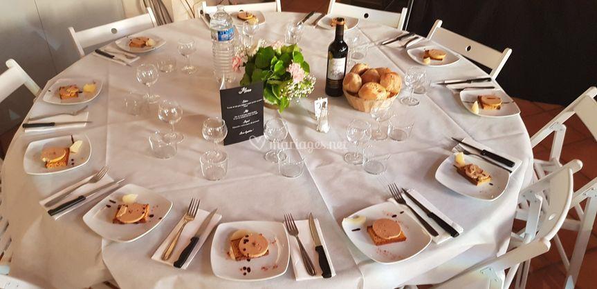 Dressage et décoration tables