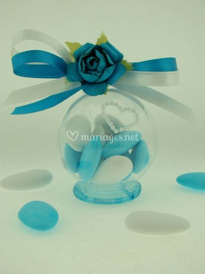 Boule rose turquoise