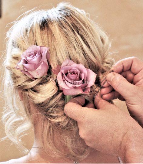 Coiffure roses rose