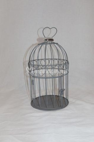 Cage à oiseaux gris