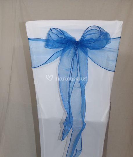Noeud de chaise bleu