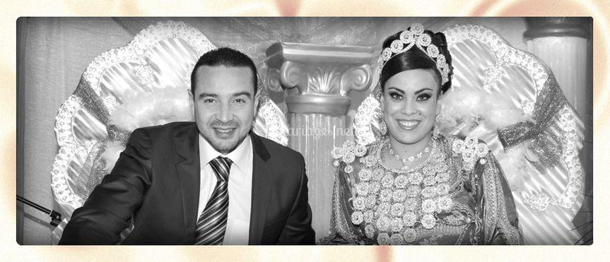 Les mariés sur le trône