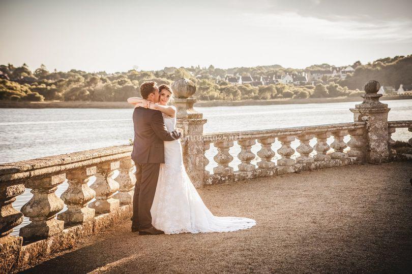 Mariés dans le parc
