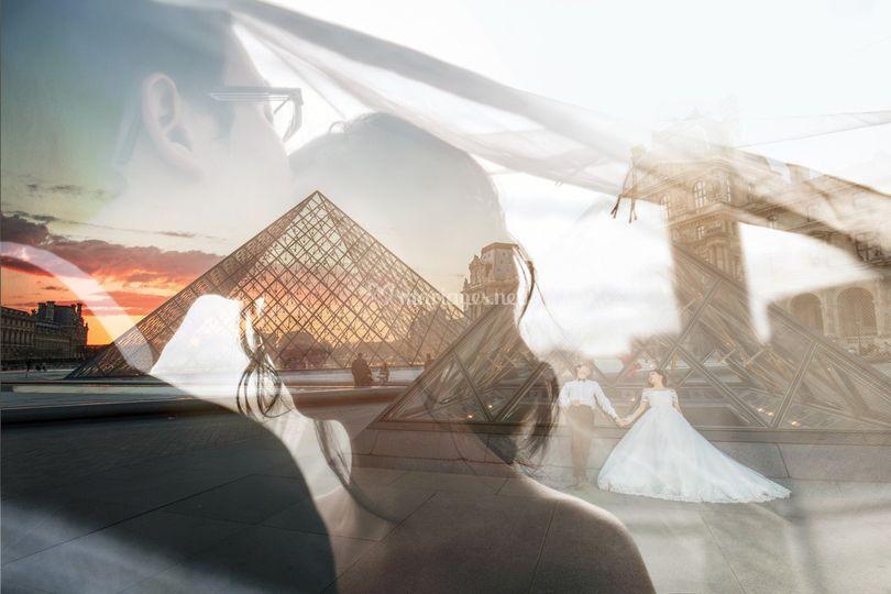 Photo d'engagement à Paris
